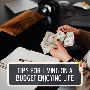 10 Tips for living on a budget Instagram Post